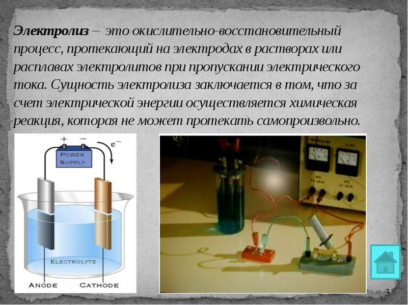 Электролиз расплава NaCl К(-) NaCl А(+) ↓ ← Na+ + Cl- → Na+ + 1ē = Na0 2Cl- -...