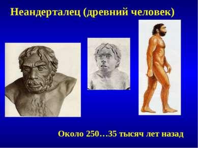 Неандерталец (древний человек) Около 250…35 тысяч лет назад