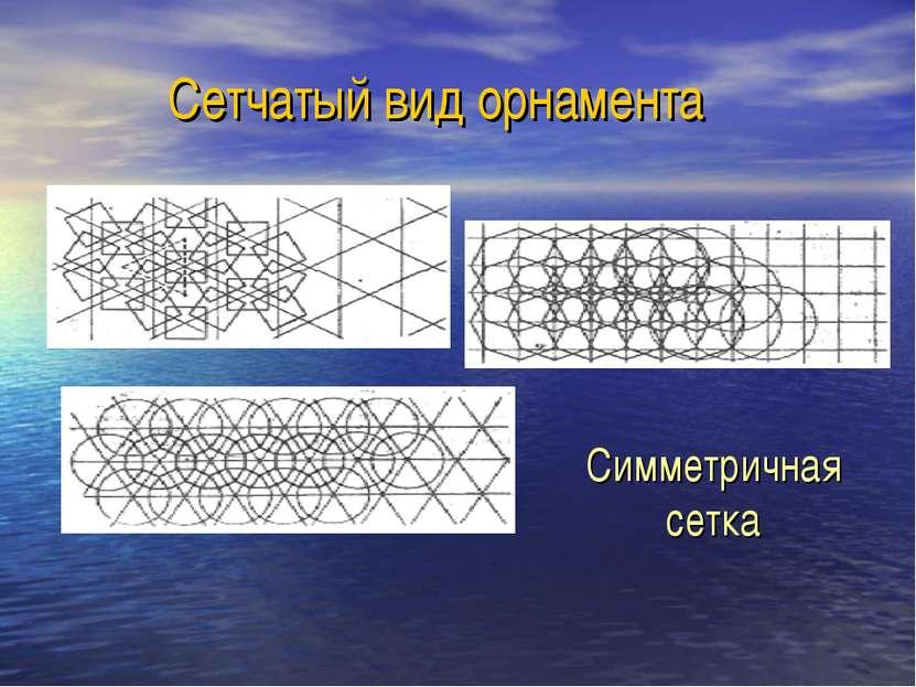 Сетчатый вид орнамента Симметричная сетка