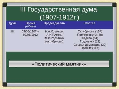 III Государственная дума (1907-1912г.)
