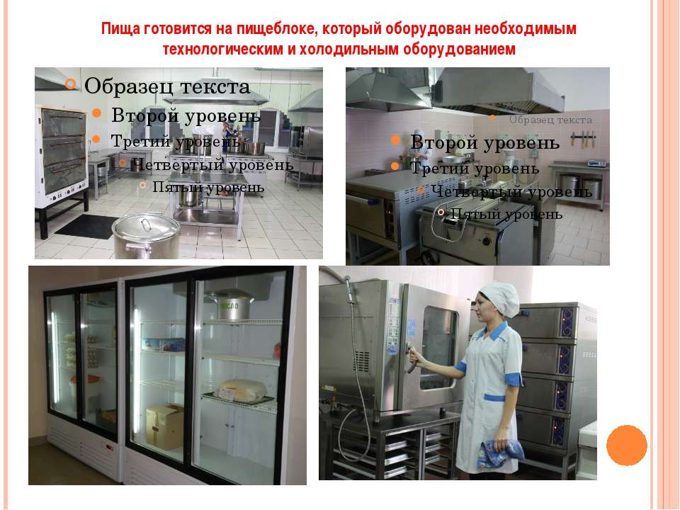 Пища готовится на пищеблоке, который оборудован необходимым технологическим и...