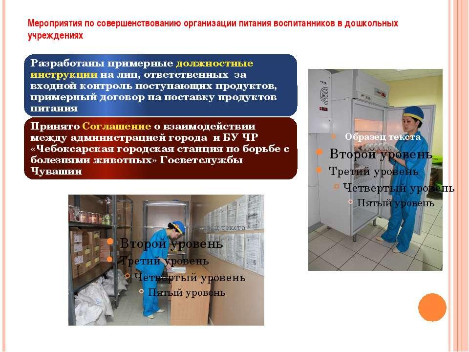 Мероприятия по совершенствованию организации питания воспитанников в дошкольн...