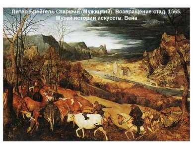 Питер Брейгель Старший (Мужицкий). Возвращение стад. 1565. Музей истории иску...