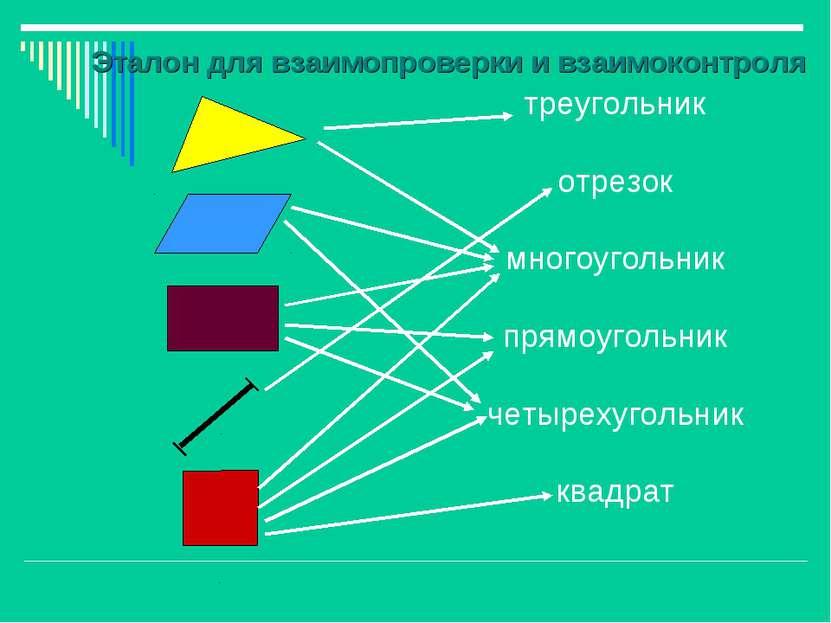 треугольник отрезок многоугольник прямоугольник четырехугольник квадрат Этало...