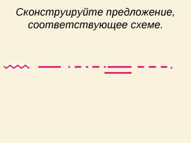 Сконструируйте предложение, соответствующее схеме.