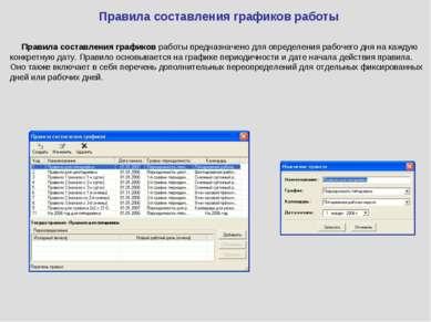 Правила составления графиков работы Правила составления графиков работы предн...