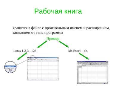 Рабочая книга хранится в файле с произвольным именем и расширением, зависящем...