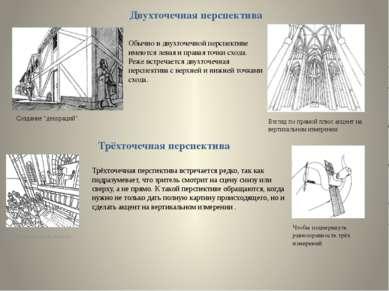 """Чтобы подчеркнуть высоту Двухточечная перспектива Создание """"декораций"""" Взгляд..."""