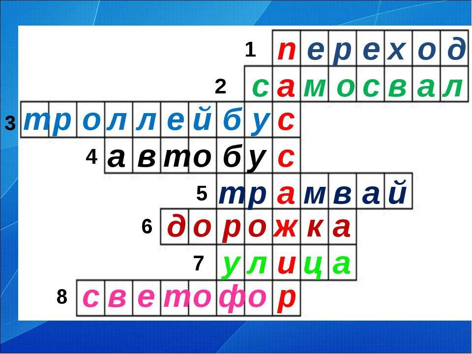 1 2 4 3 6 5 7 8 п е р е х о д м й а в м а р а ц и л у а к ж о р о д т р о ф о...