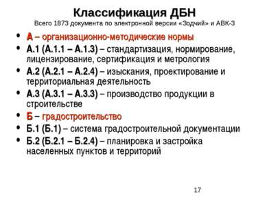 А – организационно-методические нормы А.1 (А.1.1 – А.1.3) – стандартизация, н...