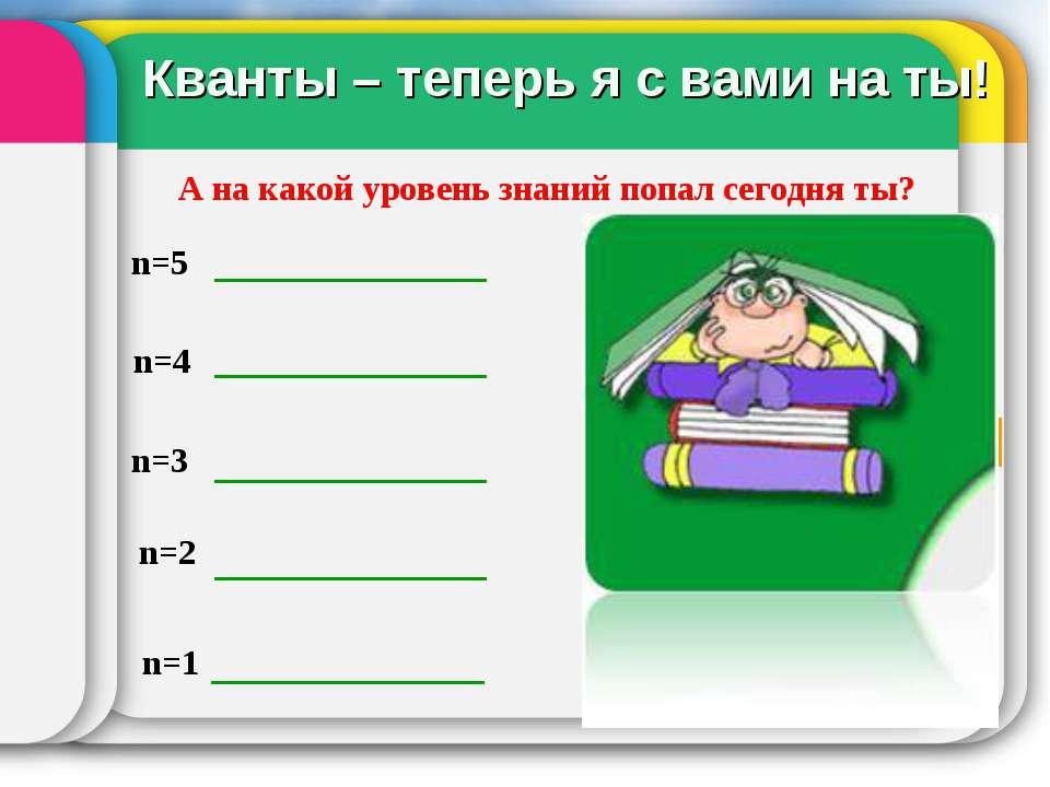 Я счастлив! Понятно все. От помощи не откажусь. n=5 n=4 n=3 n=2 n=1 А на како...