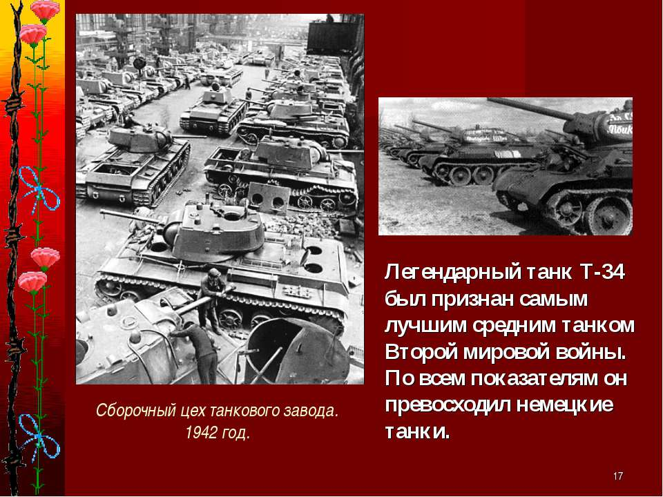 * Легендарный танк Т-34 был признан самым лучшим средним танком Второй мирово...