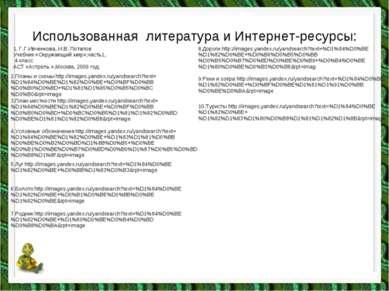 Использованная литература и Интернет-ресурсы: 1. Г.Г.Ивченкова, И.В. Потапов ...
