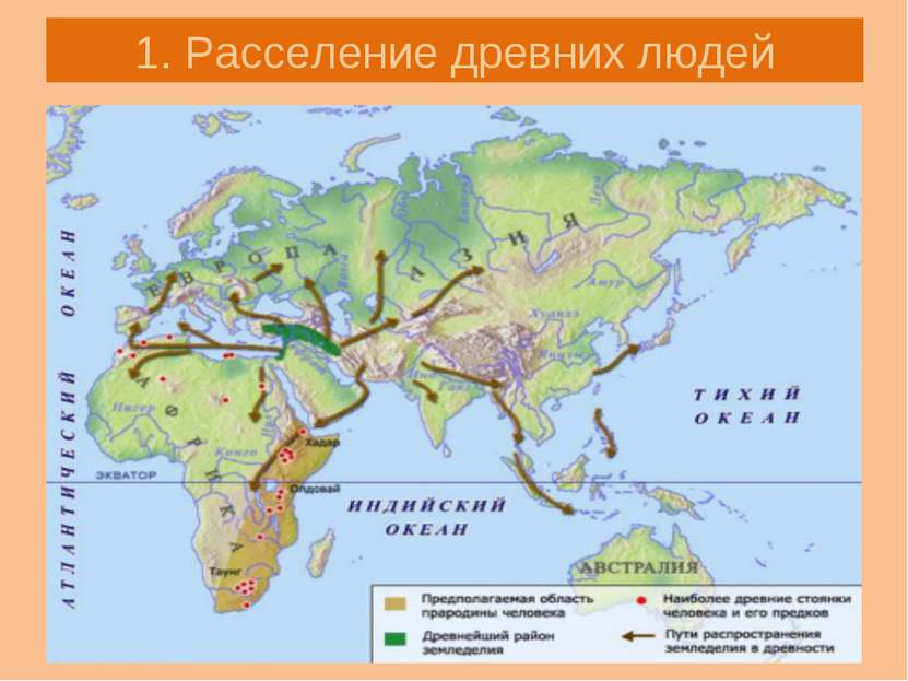 1. Расселение древних людей