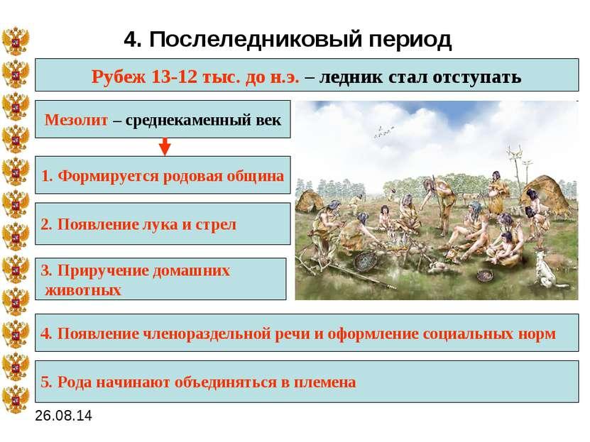 каким было основное орудие охоты в послеледниковое время