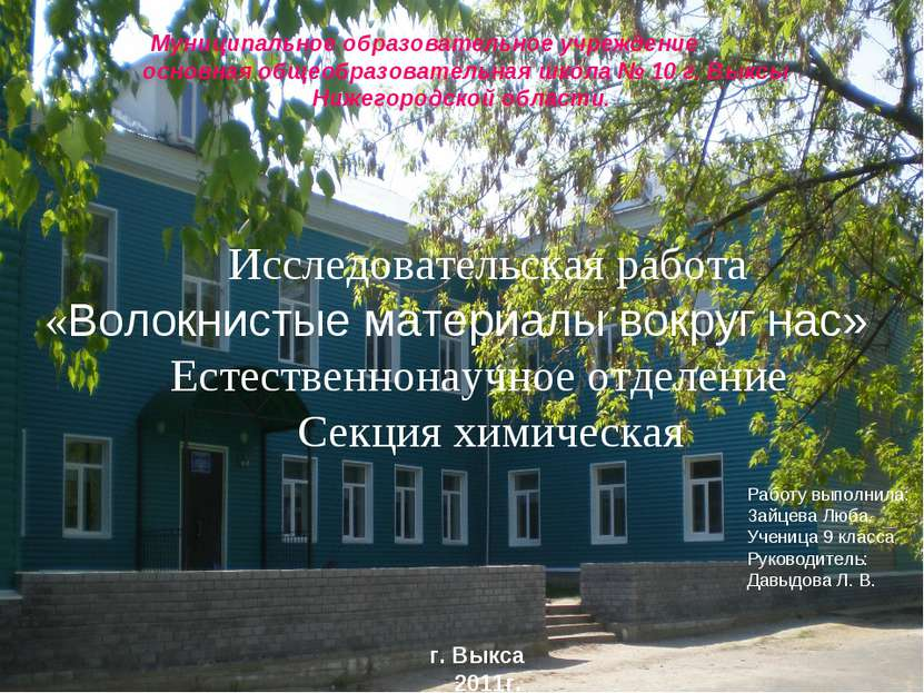 Муниципальное образовательное учреждение основная общеобразовательная школа №...