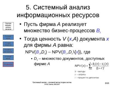 5. Системный анализ информационных ресурсов Пусть фирма A реализует множество...