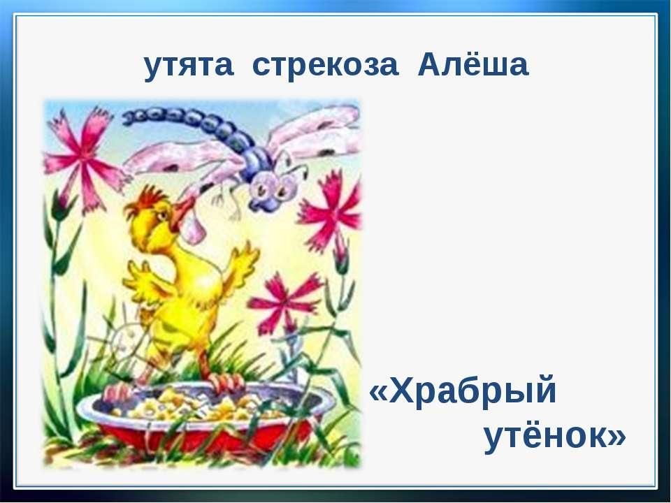 утята стрекоза Алёша «Храбрый утёнок»
