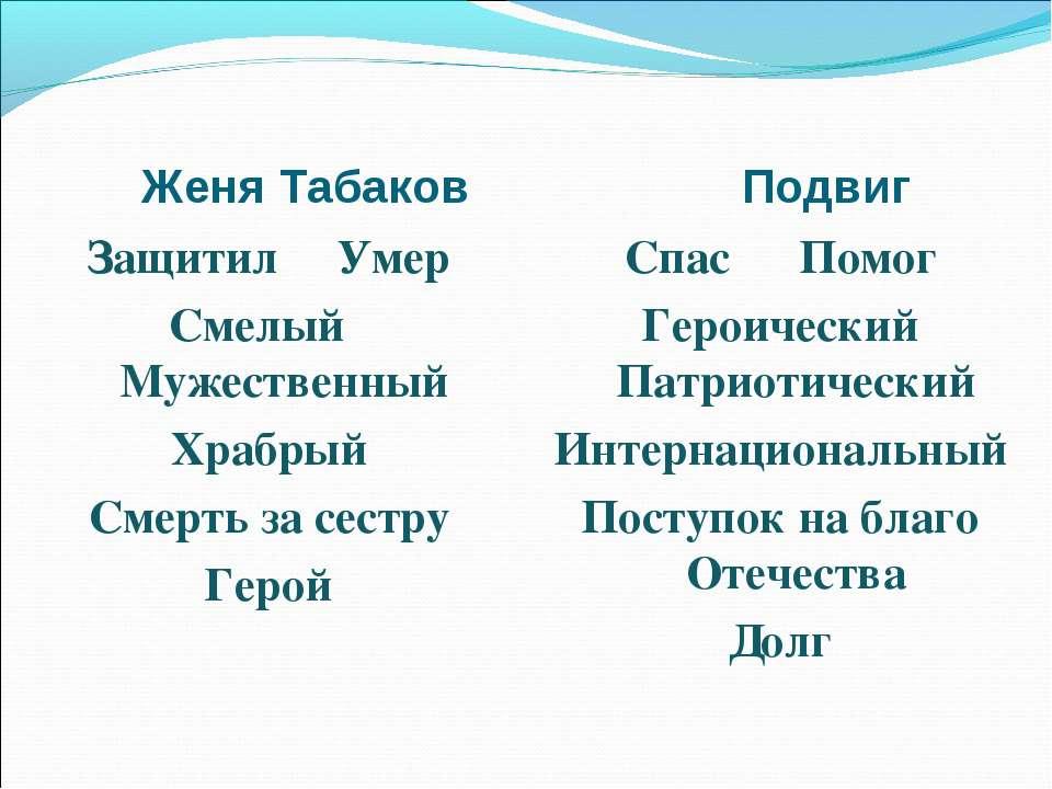 Женя Табаков Подвиг Защитил Умер Смелый Мужественный Храбрый Смерть за сестру...
