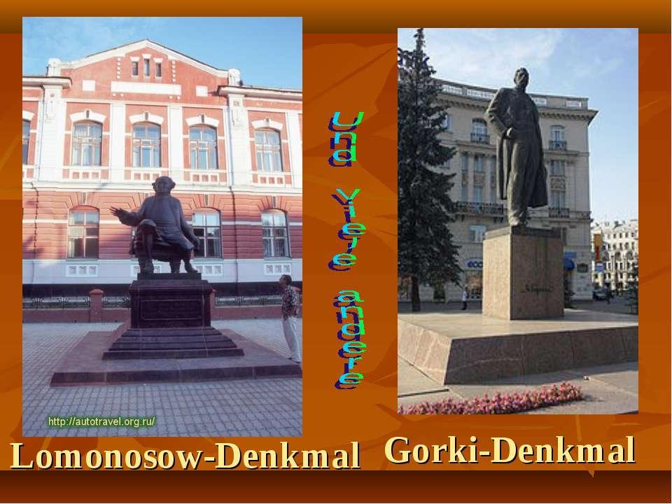 Lomonosow-Denkmal Gorki-Denkmal
