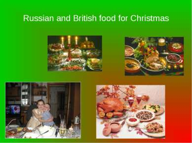 Russian and British food for Christmas