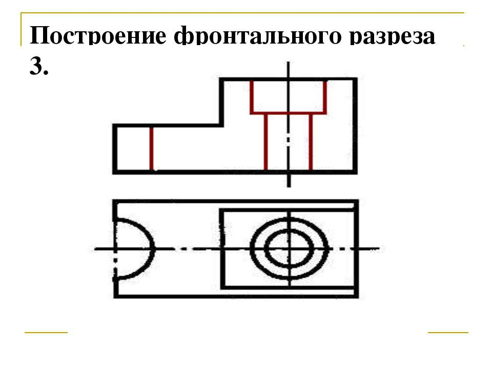 Построение фронтального разреза 3.