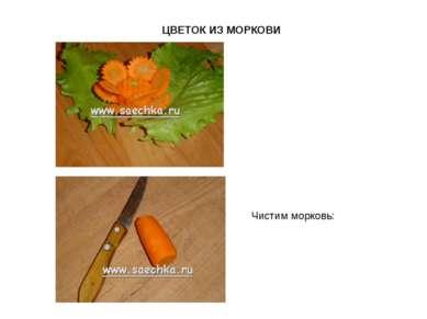 ЦВЕТОК ИЗ МОРКОВИ Чистим морковь: