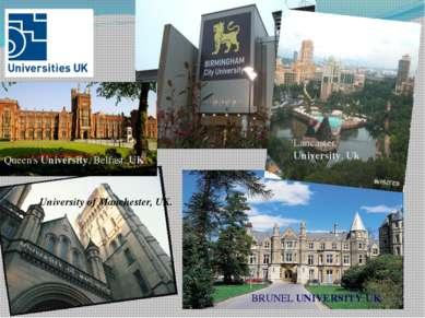 BRUNEL UNIVERSITY UK. Lancaster University, Uk University of Manchester, UK. ...