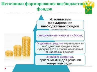 Источники формирования внебюджетных фондов