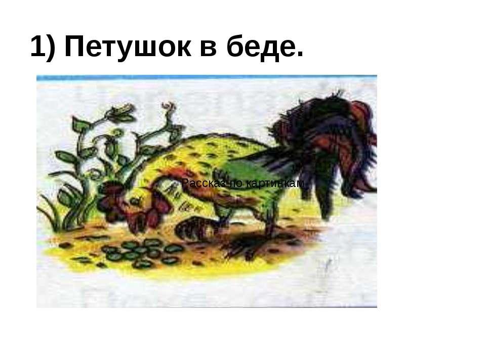 1) Петушок в беде. Рассказ по картинкам
