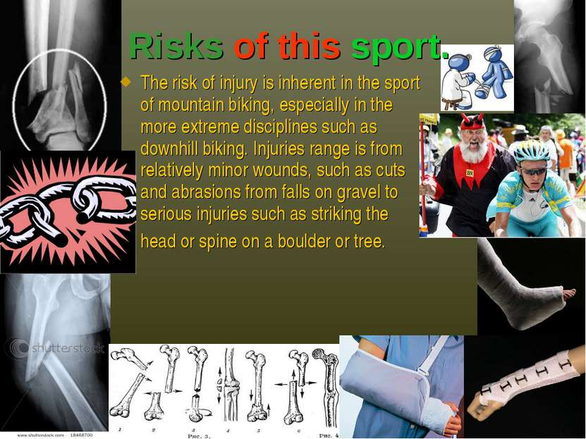 The risk of injury is inherent in the sport of mountain biking, especially in...