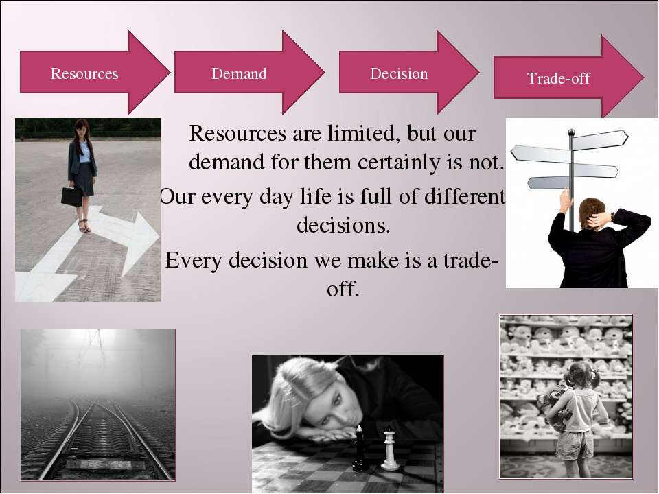 Resources are limited, but our demand for them certainly is not. Our every da...
