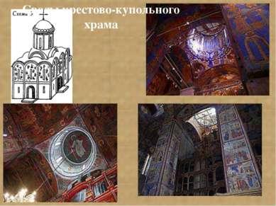 Своды крестово-купольного храма