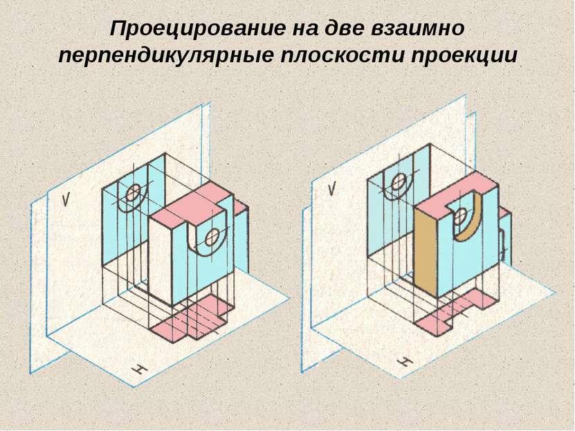 Проецирование на две взаимно перпендикулярные плоскости проекции