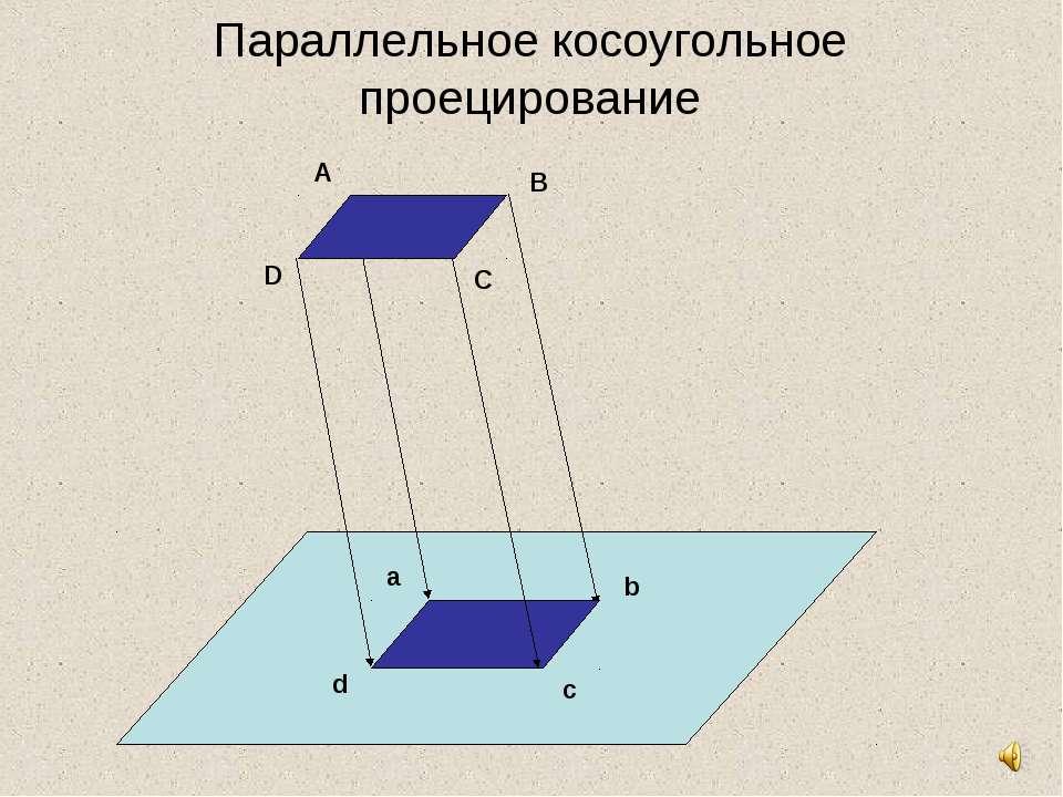 Параллельное косоугольное проецирование