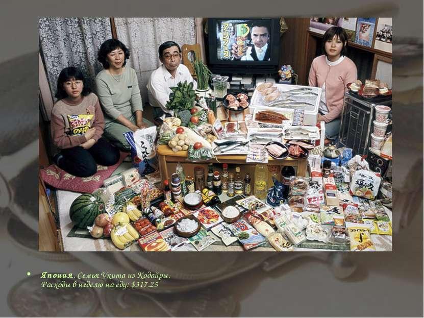 Япония. Семья Укита из Кодайры. Расходы в неделю на еду: $317.25