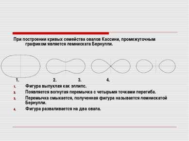 При построении кривых семейства овалов Кассини, промежуточным графиком являет...