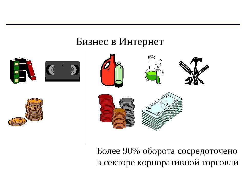 Бизнес в Интернет Более 90% оборота сосредоточено в секторе корпоративной тор...