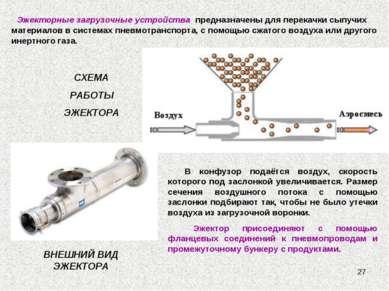 * Эжекторные загрузочные устройства предназначены для перекачки сыпучих матер...