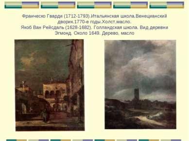 Франческо Гварди (1712-1793).Итальянская школа.Венецианский дворик.1770-е год...