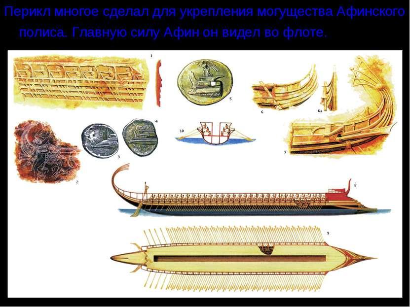 Перикл многое сделал для укрепления могущества Афинского полиса. Главную силу...