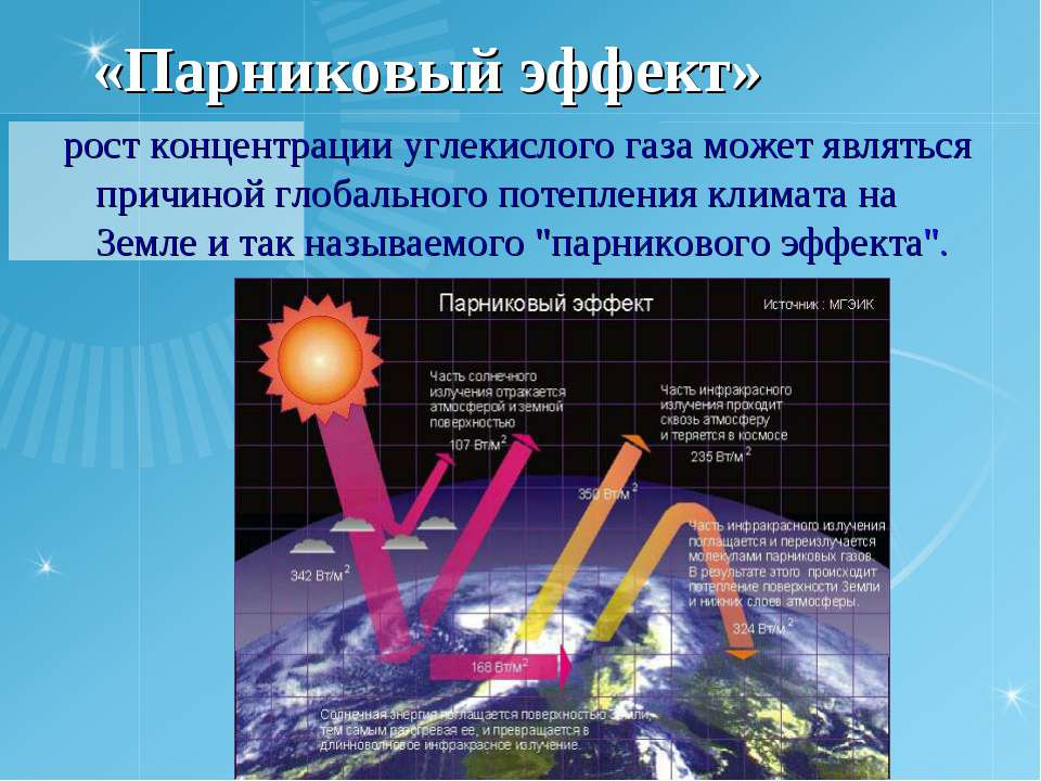 «Парниковый эффект» рост концентрации углекислого газа может являться причино...
