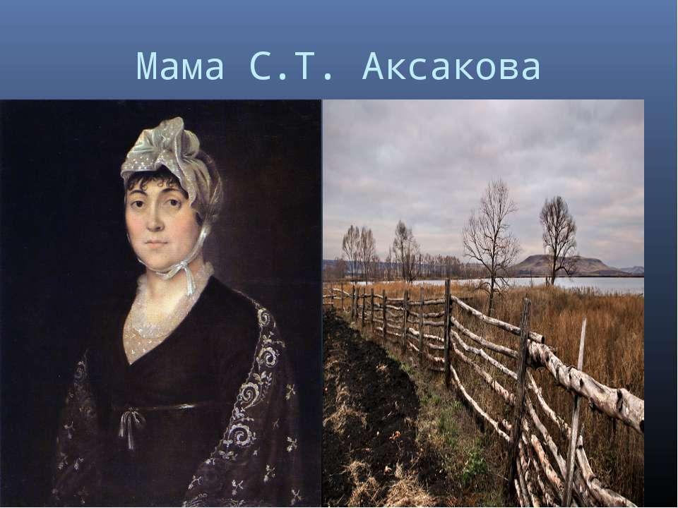 Мама С.Т. Аксакова