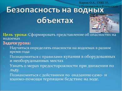 Киреев О.А., СОШ 33, г.Петропавловск-Камчатский
