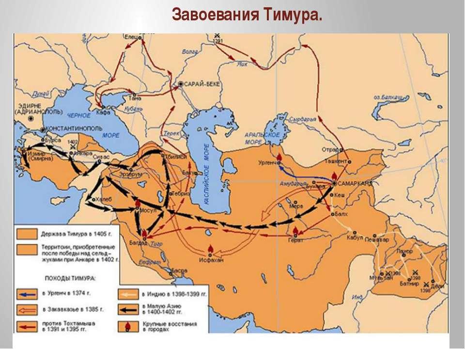 Завоевания Тимура.