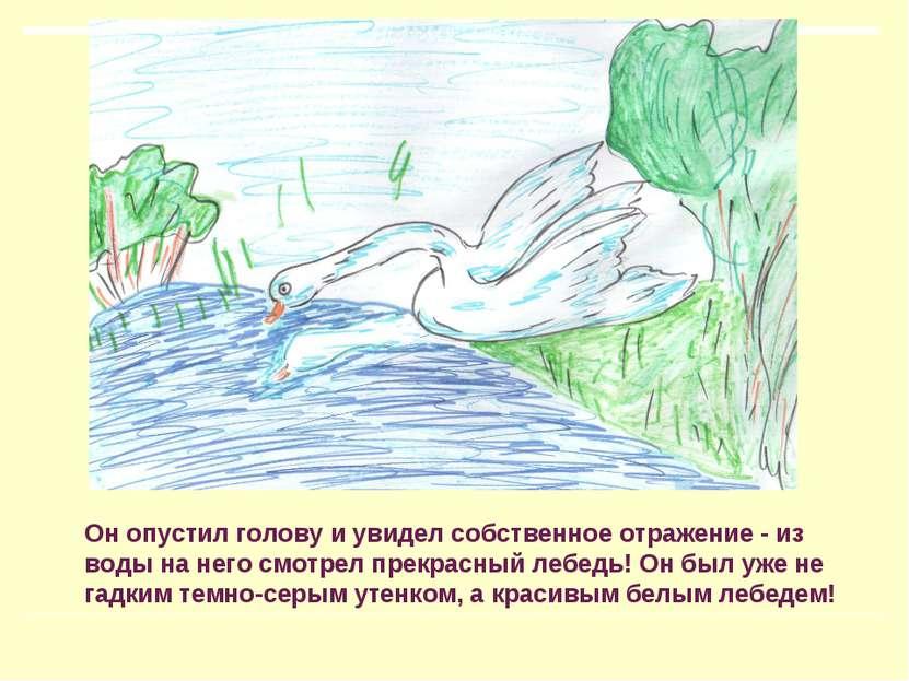 Он опустил голову и увидел собственное отражение - из воды на него смотрел пр...