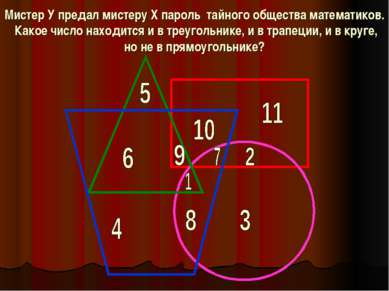 Мистер У предал мистеру Х пароль тайного общества математиков. Какое число на...
