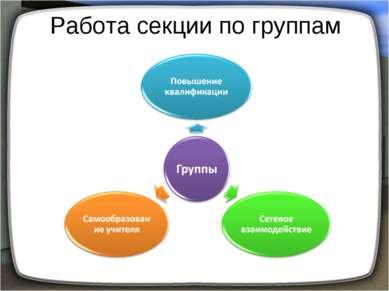 Работа секции по группам