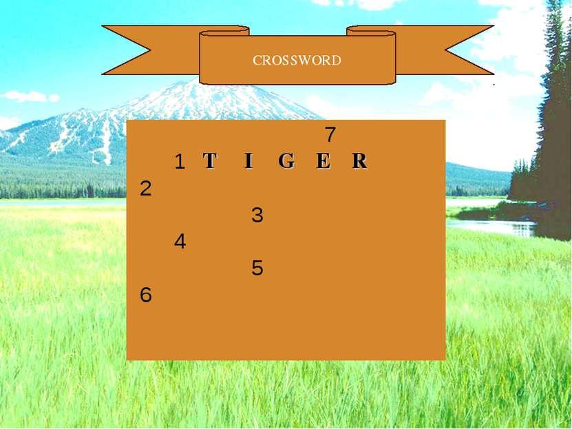 CROSSWORD      7    1 T I G E R   2            3    ...