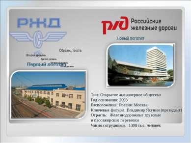 Тип: Открытое акционерное общество Год основания: 2003 Расположение: Россия: ...